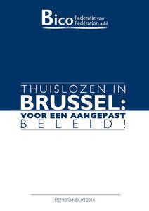 Memorandum 2014 - Thuislozen in Brussel: Voor een aangepast beleid!